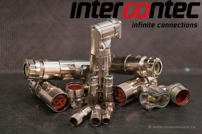 Signal and power connectors by intercontec