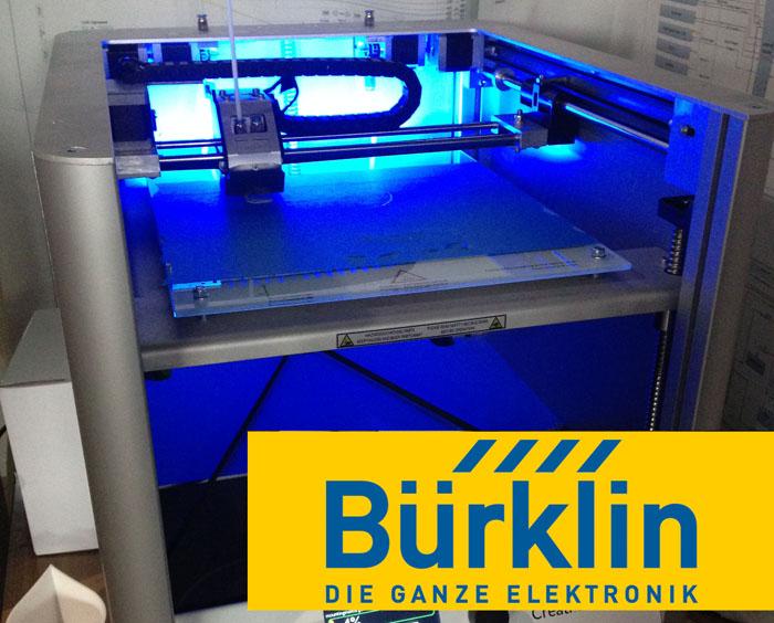 Our very own 3D printer from Bürklin Elektronik