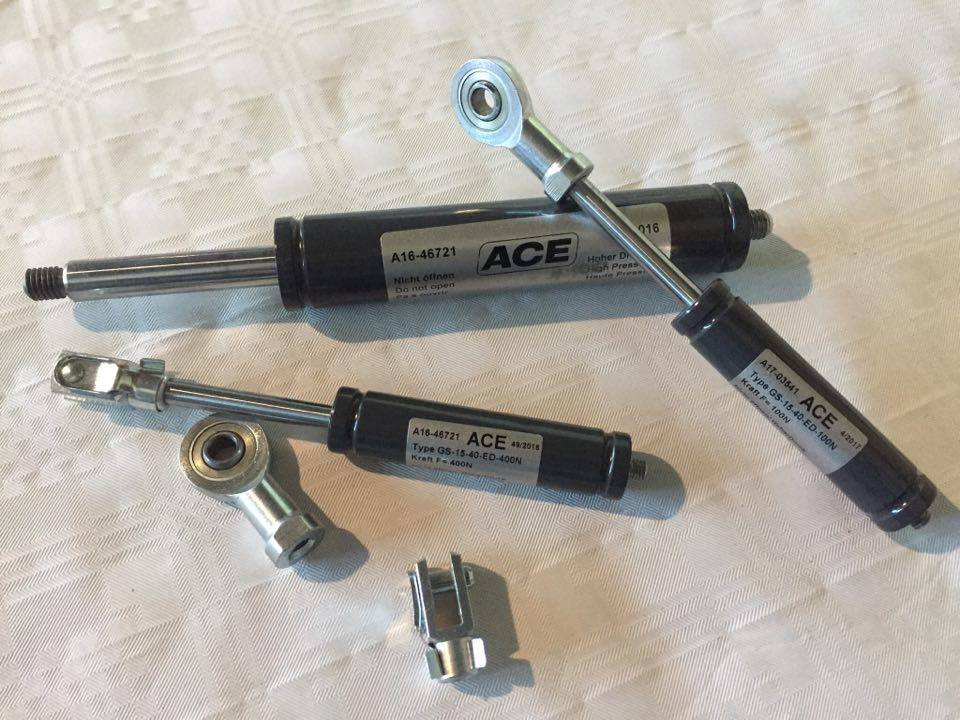 Gas pressure springs from ACE